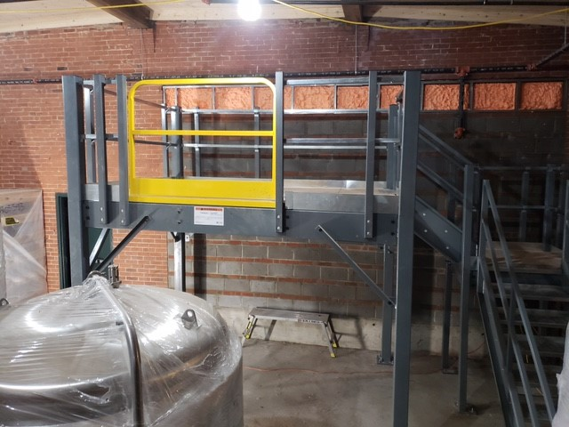 Little Red Barn Brewery Mezzanine Installation